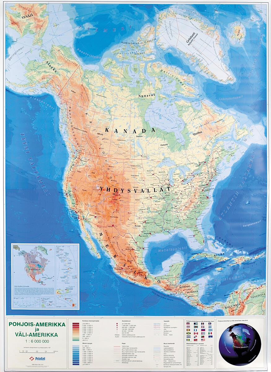 Pohjois Amerikka Kartta