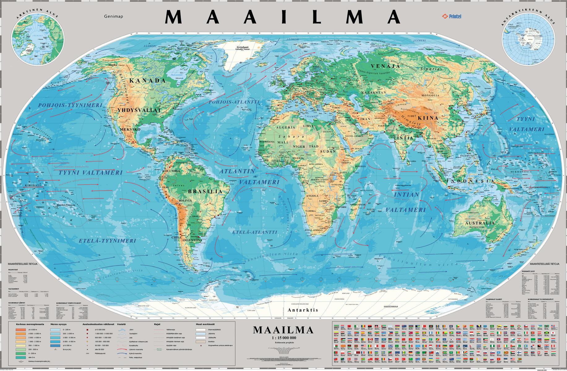 Maailman Kartta Liukuvaunussa Lekolar Suomi